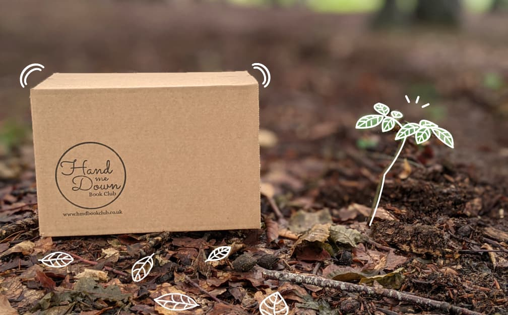 Hand Me Down Book Club box with sapling
